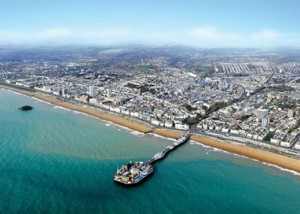 Aerial view of Brighton