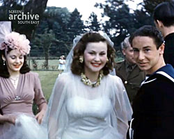 A colour still image from [Mia Macklin's Wedding] (5 May 1940)