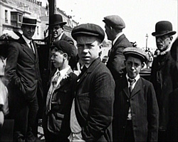 A black and white still image from Brighton & Hove Band of Hope Demonstration (1913)