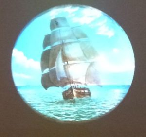 Magic Lantern Slide of Ship