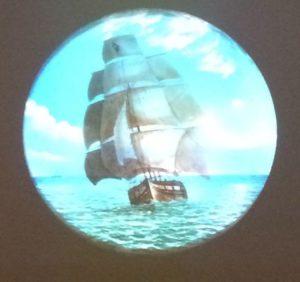 Magic Lantern Slide of Ship