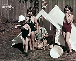 A still from [Ladycross Sports; Family Fun; Boating; Newhaven] (1937)