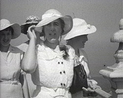 A still from [Town and Family Scenes at Broadstairs] (1929-1938) showing Women in sun hats