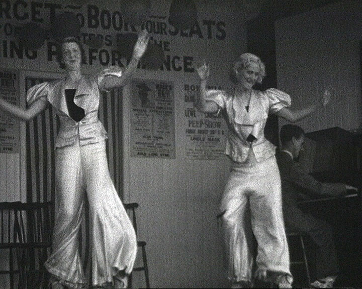 A still from [Broadstairs & St. Peter's Items] (1936-1937) showing dancers on a stage