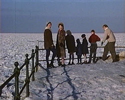 A Still from 'Herne Bay on Ice' (1963) showing the frozen sea