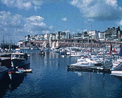 A still from Ramsgate - A Picture to Remember (1971) showing Ramsgate harbour