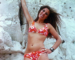 A still from 'This is Broadstairs' (1970) showing a woman in a bikini