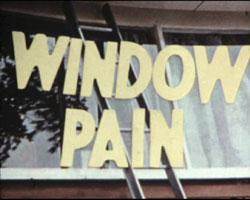 A still image from the title of �Window Pain� (1969)