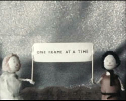 A still image from the title of �One Frame at a Time� (ca. 1973)