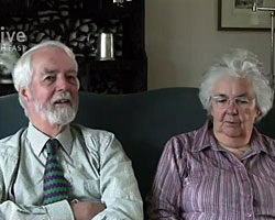 Rosemary and John Gowlland Oral History clip - Knitting and Wartime (2013)