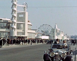a still from 'Mr Emberton's Work at Blackpool Pleasure Beach' [Jocelyn and Gillian Emberton oral history interview clip 4]