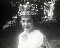 A still from 'Egerton May Festivals' (1934-1936) showing the May Queen