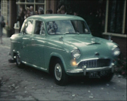 A still from 'Our Wedding' (1961) - the couple's car