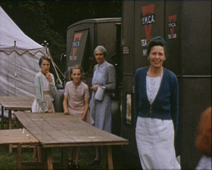 A still from Sevenoaks Scrapbook (1937-1946) - YMCA tea vans at a fete