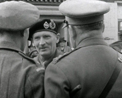 A still from 'Lefevre's Funeral and Montgomery's Visit' (1945)