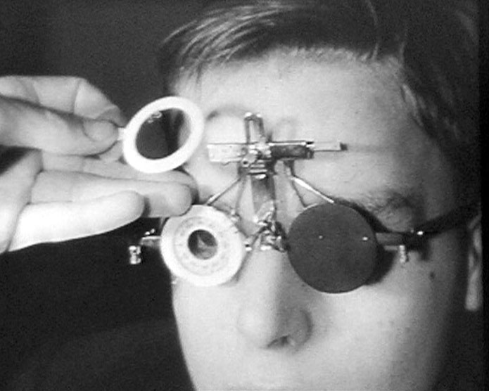 A still from 'St Bartholomew's Hospital' (ca. 1930) showing the work of the ophthalmic department