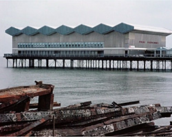 A still from [The Construction of the Pier Pavilion at Herne Bay] (1976)