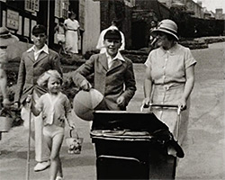 A still from The Brett family's trip to Broadstairs (ca.1930)