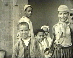 A Still from [Christmas Cruise - Trip to Africa] (ca.1935) showing Moroccan boys