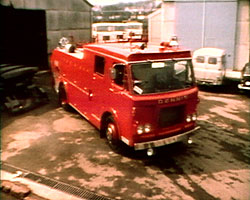 A Still from 'The Dennis Factory and Their Products' (1968) showing a fire engine