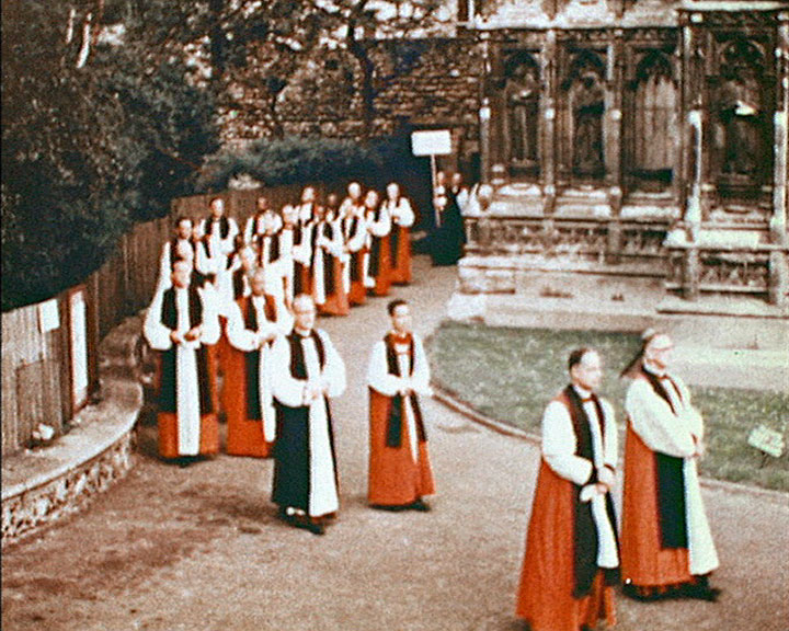A still from 'Lambeth 1958' - Members of the clergy
