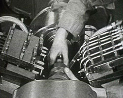 A still from Maxicut (1958?) showing machinery