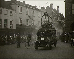 A still from [Reigate Borough Carnival] (1926-1927) - a float in the procession