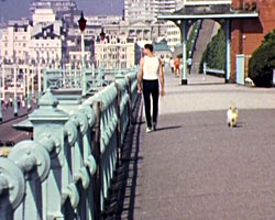 A still from Brighton (ca.1982) showing the seafront
