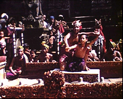 A still from [A Visit to Java, Bali and Sumatra, Angkor Wat and Bangkok] (1939) - dancers in Bali