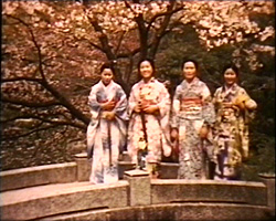 A still from [Japanese Scenery II] (1937-1938) - four Japanese women