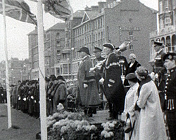 A still from [The Presentation of the Honorary Freedom of the Borough of Hove to the Royal Sussex Regiment] (1958)