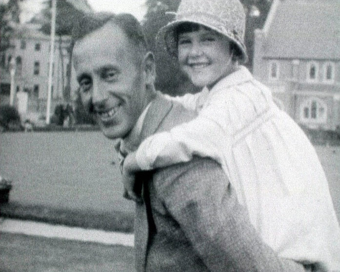 A still from 'Summer 1929' showing a father and daughter