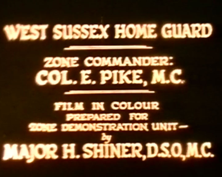 A still from West Sussex Home Guard (ca.1941)