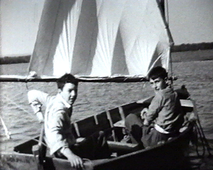 A still from [Miscellaneous Family Pictures] (1930-1937) - boys in a sailing dinghy