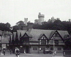 A still from Sussex Fortnight (1950?) showing Arundel Castle