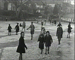 A still from Yesterday's Lindfield (1942 - 1987) - children skating on a pond