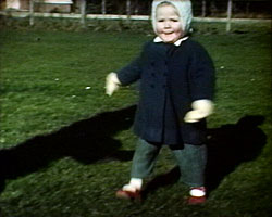 [Toddler scenes of Elizabeth] (1963-1966?) showing Elizabeth in the garden
