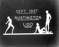 A still from 'Rustington Lido' (1937)