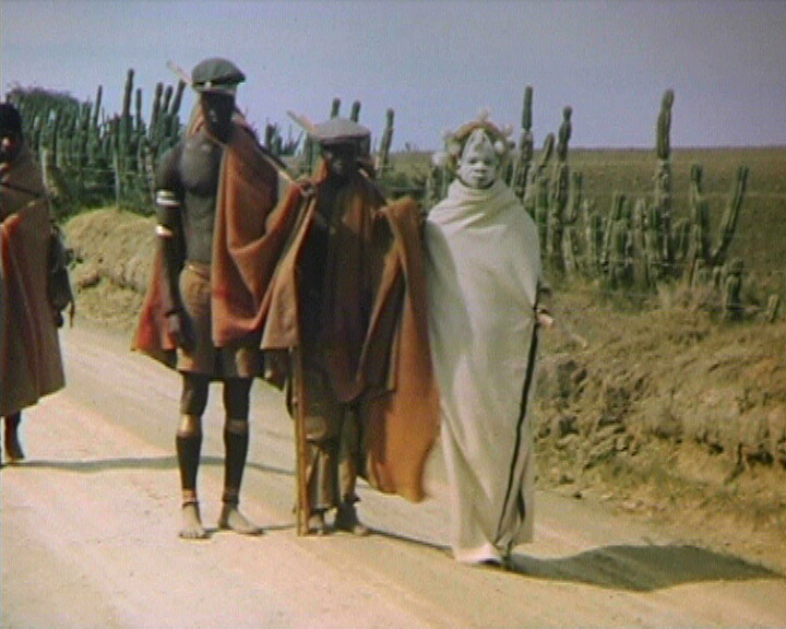 A still from [African Village] (1947?) - A group of African tribesmen