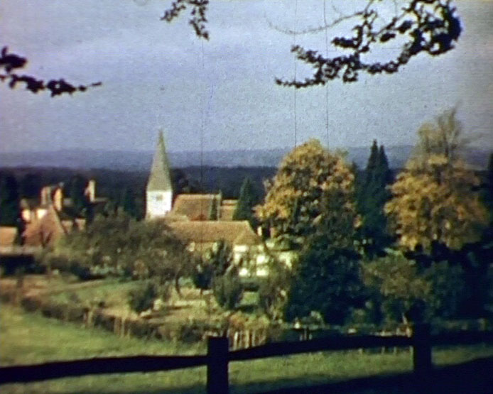 A still from 'Sussex Symphony' (1950) showing a rural scene