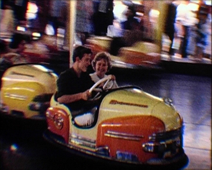 A still from 'The Fun of the Fair' (1962) - dodgem cars