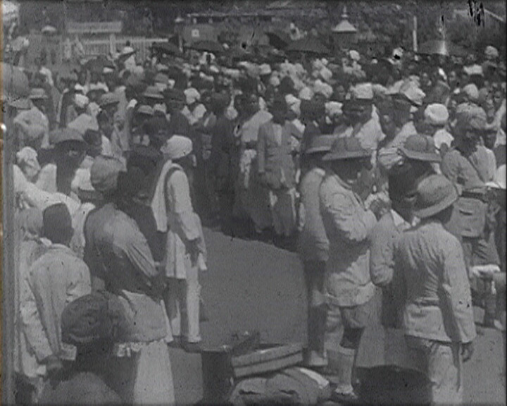 A still from 'Travel. Memories of a Journey from India to England' (1930s)