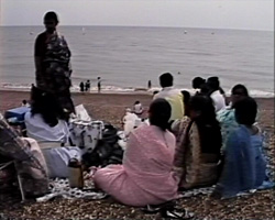 A still from 'Bhashahara' (1990) - a group of Bangladeshi women on