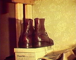 A still from 'Leather to Last' (1978) - a pair of boots
