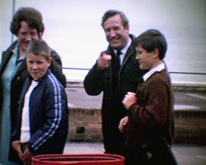 A still from [Local Scenes Eastbourne. Family Pictures] (1970s) showing the Rose family