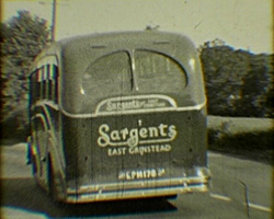 A still from [Sargent Bus & Coach Services] (1939-1977) - a 'Sargents' coach