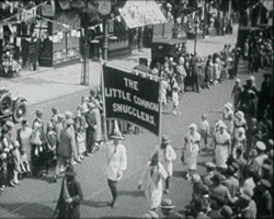 A still from 'Bexhill Pageant' (1927) - procession