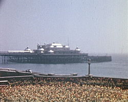 A still from 'Brighton' (ca.1957) showing the Palace Pier