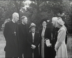 A still from 'The Lambeth Conference 1948' - A group of clergymen and their wives