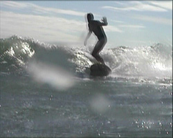 A still from 'Not California, This is Surfing in Brighton' (2002) -